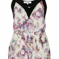 **PRINTED PLAYSUIT WITH CONTRAST TRIM BY OH MY LOVE