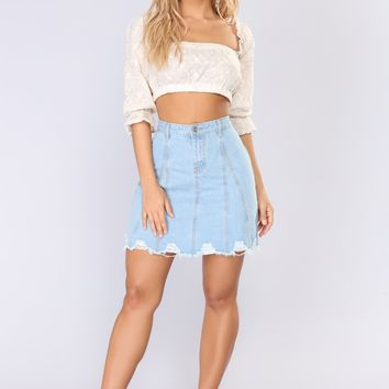 Just For You Crop Top - Ivory