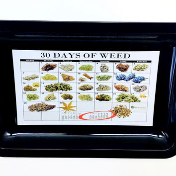 Colorful Metal Rolling Tray - Calendar