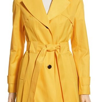 Via Spiga 'Scarpa' Hooded Single Breasted Trench Coat (Regular & Petite) | Nordstrom