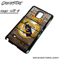Real Madrid Wooden Case For Samsung Galaxy Note 4 Case