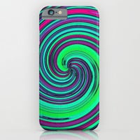 Psychedelic Retro Swirl - Pattern iPhone & iPod Case by Moonshine Paradise