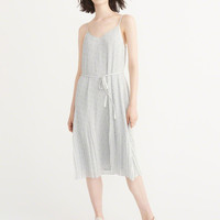 Womens Pleated Midi Dress | Womens Dresses & Rompers | Abercrombie.com
