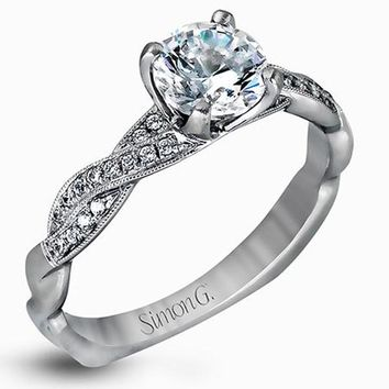 Simon G. Twist Diamond Engagement Ring