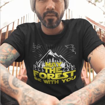 May the Forest Be With You - Unisex T-Shirt Organic Cotton