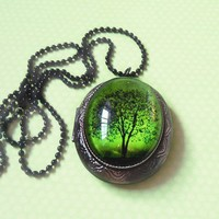 Emerald Bewitched Locket by SarusCrafts