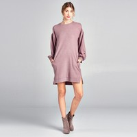 Puff Sleeve Sweater Dress