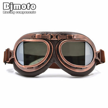 Vintage Helmet Motocross Goggles Clear Steampunk Goggles Sport Sunglasses For Motorcycle Cafe Racer Dirt Bike