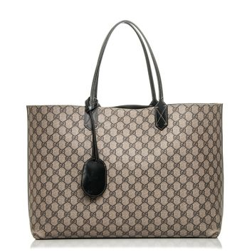 Gucci Emily Beige Ebony Chocolate Monogram Leather Tote 322226ffafxg New