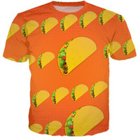 Taco Emoji 3d Print Fashion Casual T shirt