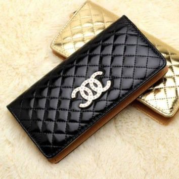 DKJN6 Fashion ladies handbag high-end candy color wallet Lingge women's wallet CC bright handbag