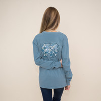 Classic Fit Cameo Blue Ogee Tee