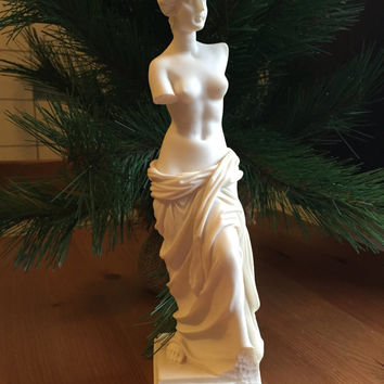 Antique Greek Aphrodite Statue also known as Venus De Milo Greek Figurine Historical Gifts For Her