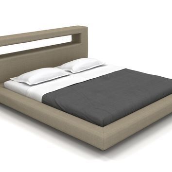 "Modern Bed, Nini Cal-King Platform Bed - 36"" Headboard (Custom) 