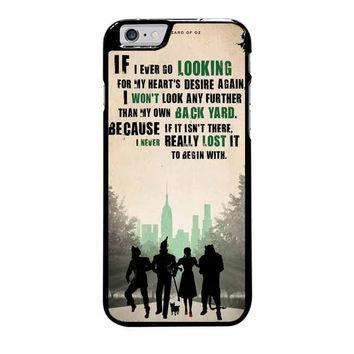 the wizard of oz poster movie quote iphone 6 plus 6s plus 4 4s 5 5s 5c cases