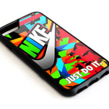 Nike. Just Do It Full Color iPhone 7 and 7+ Hard Plastic Case Cover