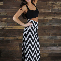 Poker Face Maxi Skirt