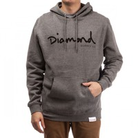 Diamond Supply Co. OG Script Pullover Hoodie - Gunmetal Heather