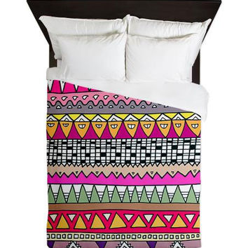 Queen Duvet Cover - Tribal Lines - Ornaart Design