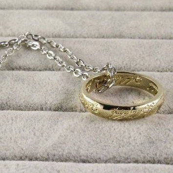 Lord of the rings the one ring Sauron necklace LOTR