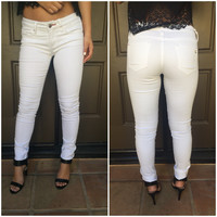 White Denim Skinny Pants
