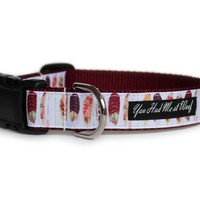 Boho Feathers Dog Collar