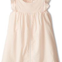 Chloe Kids Woven Flutter Sleeve Dress With Braided Detail (Infant)