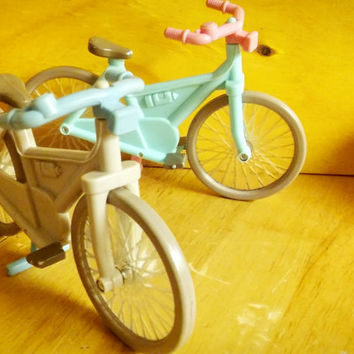 Vintage Fisher Price Loving Family Dollhouse Bike / Fisher Price 1997 His and Hers Bike Set
