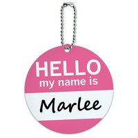Marlee Hello My Name Is Round ID Card Luggage Tag