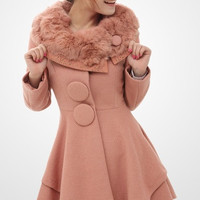 Winter Women Dress Coat Slim Woolen Coat Outwear = 1930160324