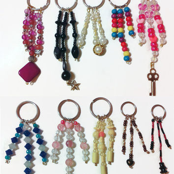 Bulk Keychain listing - 10 Key Chains, Beaded gifts, gift ideas, gifts for her, party favors, colorful keychains, bulk gifts, handmade gifts