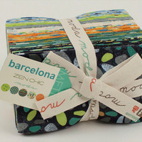 Barcelona Fat Eighth Bundle by Zen Chic for Moda Fabrics