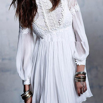 Chiffon Floral Embroidered Dresses