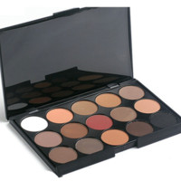 Professional 15 Colors Concealer Smokey Eyeshadow Makeup Palette