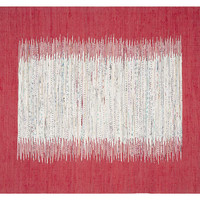 Cay Flat-Weave Rug, Ivory/Red,