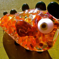 Sculpted Glass Fish Creature Pipe