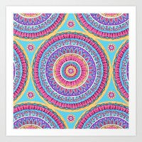 Summer Burst Mandala  Art Print by Sarah Oelerich