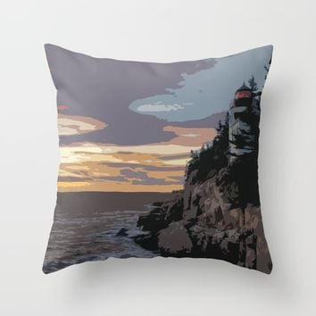 Color of Light Throw Pillow by Obey_My_Dog