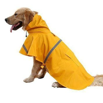 Waterproof raincoat for medium and large dogs