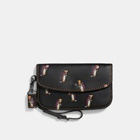 Clutch With Penguin Print