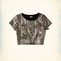 Girls Sequin Crop Top | Girls Tops | HollisterCo.com