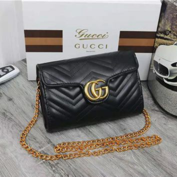 Gucci Women Leather Multicolor Satchel Crossbody Shoulder Bag