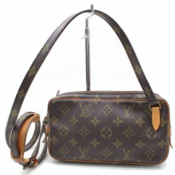 Authentic Louis Vuitton Shoulder Bag Pochette Marly Bandouliere M51828 29424