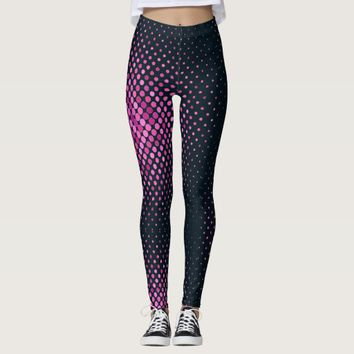 Pattern Navy Blue Yoga Legging