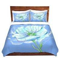 DiaNoche Designs Microfiber Duvet Covers Catherine Holcombe - Blue Flower