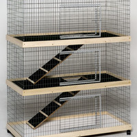 Rabbit Supplies at Petwerks:48 in. Triple Level Bunny Abode Condo