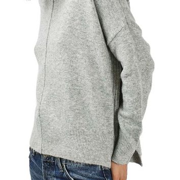 Topshop Zip Side Sweater | Nordstrom