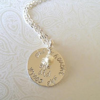 She Thought She Could So She Did Sterling Silve Necklace-Inspirational, Sentimental, Runners Jewelry