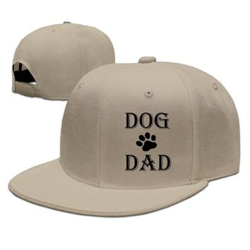 Dog Dad Cute Design Breathable Unisex Adult Womens Hip-hop Hat Mens Snapback Caps