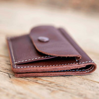 MENS Leather wallet PURSE // Leather coin wallet // Waxed wallet purse // Leather coin purse // Credit card holder // Leather wallets MOD